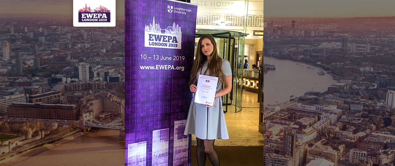 Maja Zarkovic wins Best Paper Award at the Early Research Career Day at the EWEPA 2019 Conference in London